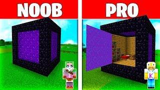 Minecraft NOOB vs PRO: LA CASA SECRETA del PORTAL de MINECRFAFT!