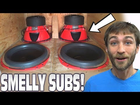 SMELLY Subwoofers on BLAST... 4 Orion HCCA Car Audio SUBS & Custom Bandpass Subwoofer Box Build