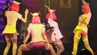 Sexy Nurses dance to Turn Down For What in Fiends show at Howl-O-Scream 2014