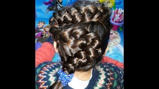 Snake braid hairstyle