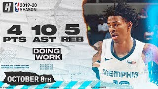 Ja Morant Full Highlights vs New Zealand Breakers (2019.10.08) - 4 Pts, 5 Reb, 10 Assists!