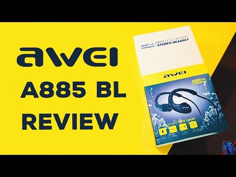 AWEI A885BL Bluetooth, NFC & Waterproof Sports Earphone Unboxing and Review | Techfogeek