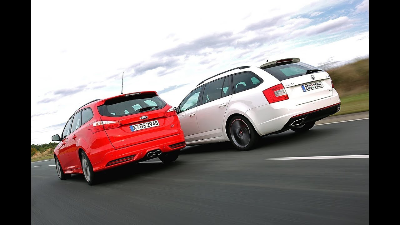 Skoda Octavia Combi RS vs. Ford Focus ST Turnier - YouTube
