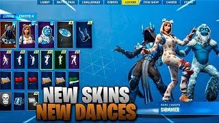 *NEW*  SEASON 7 SKINS SHOWCASE WITH ALL SEASON 7 EMOTES/DANCES..!!