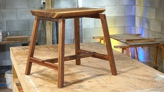 Wooden Stool Using Different Joinery Methods