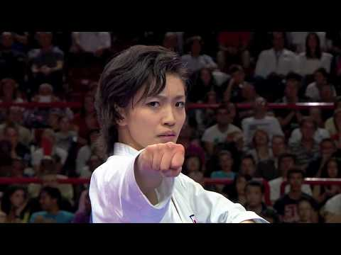 Final Female Kata. Rika Usami of Japan. 21st WKF World Karate Championships Paris 2012 Image 1