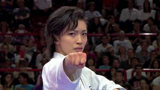 Final Female Kata. Rika Usami of Japan. 21st WKF World Karate Championships Paris 2012