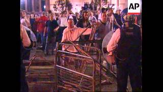 UK: EURO 96 CHAMPIONSHIPS: ENGLISH FANS CLASH WITH POLICE