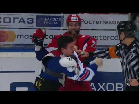 Major KHL Fight: Lokomotiv vs SKA
