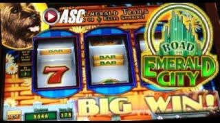 *NEW OZ* ROAD TO EMERALD CITY | Glinda & Toto | WMS - Big Win! Wizard of Oz Slot Machine Bonus