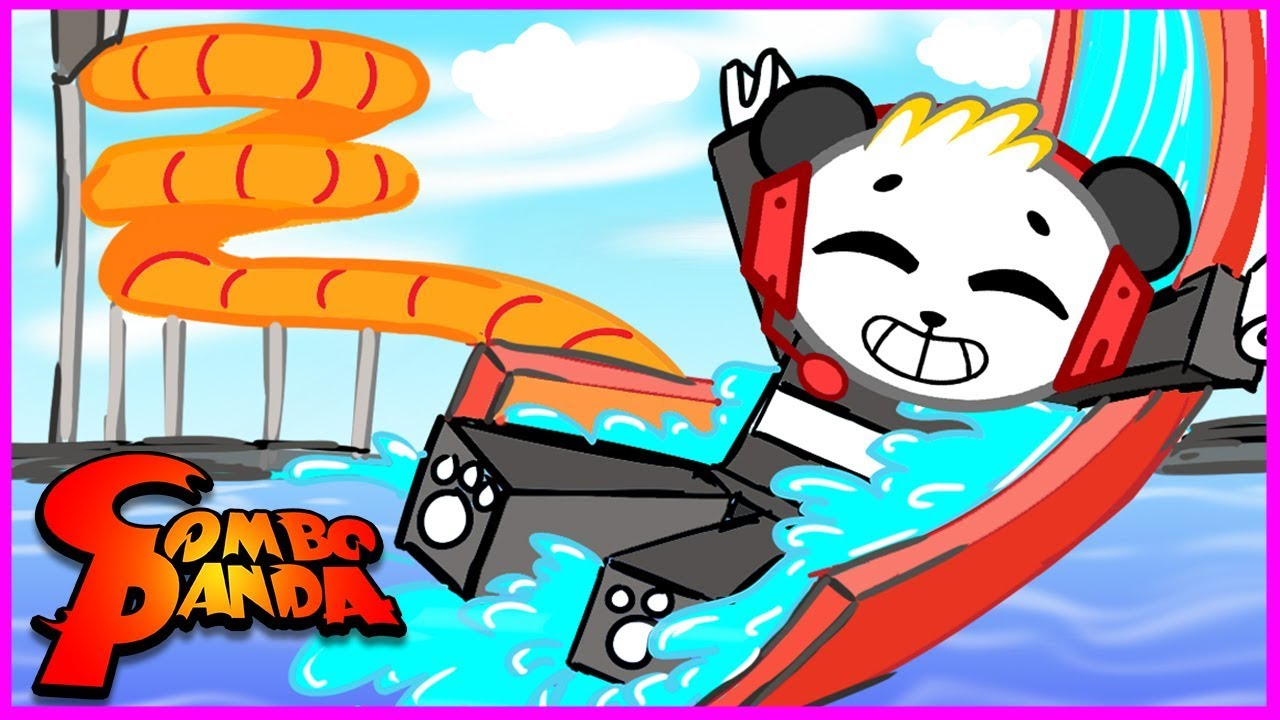 ROBLOX Water Park Let's Play with Combo Panda
