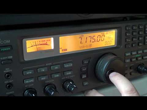 Tuning the 40 meters amateur radio band 1810 UT