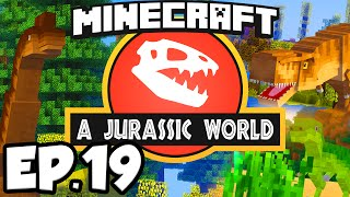 Jurassic World: Minecraft Modded Survival Ep.19 - CASTLES & HORSES!!! (Rexxit Modpack)