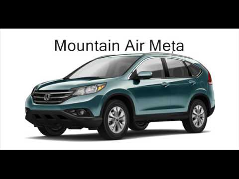 2013 Honda CRV Colors - YouTube