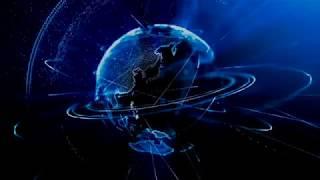 digital globe spinning