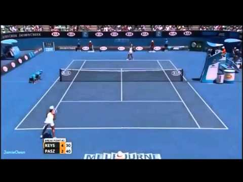 Madison Keys vs Tamira Paszek 2013 AO Highlights