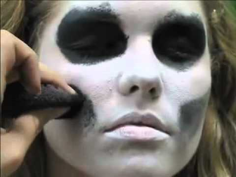 Girl Skeleton Face Skeleton Face Paint Easy 5
