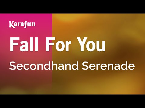 Karaoke Fall For You - Secondhand Serenade * video