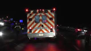 FEB 01 2019 Owensboro KY Bypass Ice Covered With Wrecks EMS Responds