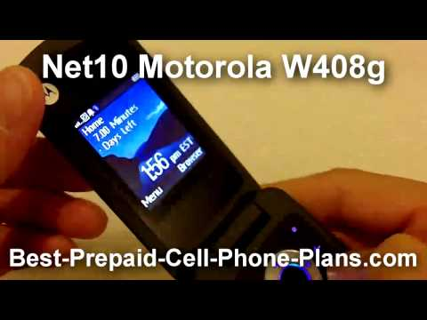 Net10 Motorola W408g with MP3 Player and Megapixel Camera