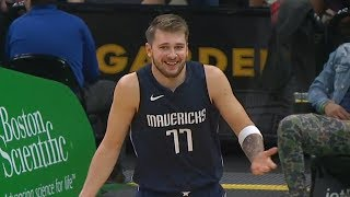 Luka Doncic Does Michael Jordan Shrug - Mavericks vs Celtics | Nov 11, 2019 | 2019-20 NBA Season