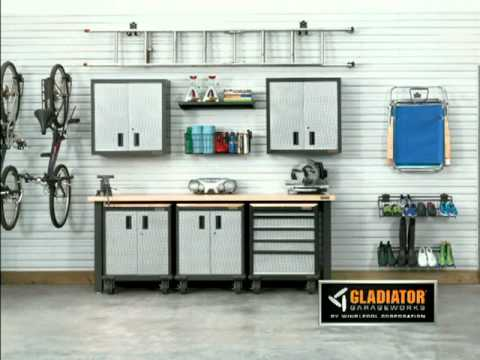 Gladiator 174 Garageworks Gearwall Panels Youtube