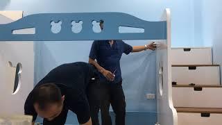 Cách lắp đặt giường tầng cho bé