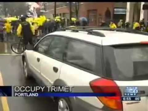 Portland TV coverage Occupy National Day of Transit Action