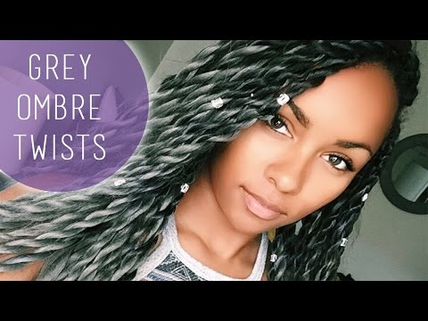 Grey Ombre Twists & Hair Review
