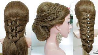 3 easy hairstyles for long hair tutorial.
