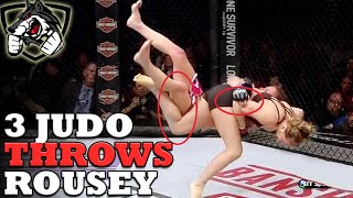 Ronda Rousey's 3 Best Judo Throws in MMA