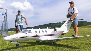 RC MODEL PRIVATE JET CESSNA C-525 CITATION JET FLIGHT DEMO!! *REMOTE CONTROL PLANE