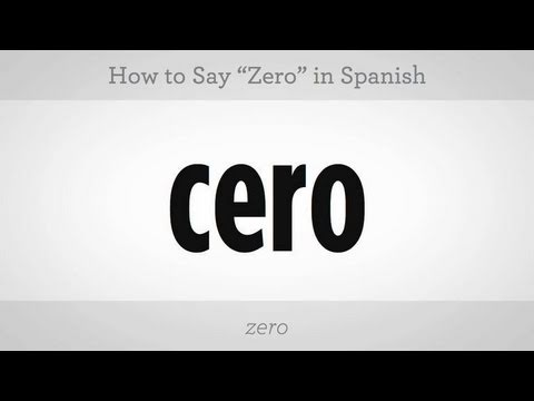 Number Zero in Spanish How to Say Zero | Spanish
