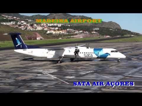 Madeira Airport Aterragem / Descolagem Sata Air Açores - Santa Maria