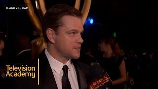 Matt Damon Talks About Jimmy Kimmel | 68th Emmys Thank You Cam