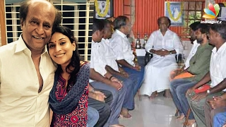 Superstar Rajinikanth meets his fan club members