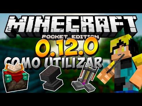 Minecraft PE 0.14.0: COMO UTILIZAR La Mesa De Encantamientos. El Yunque y Las Pociones