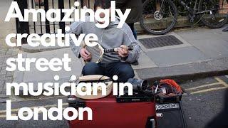 Amazingly creative street musician in London
