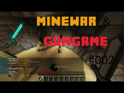 Fesch der Hacker !! | Minewar & Gungame | Heavy War #002 | Minecraft | [Deutsch/Full-HD]