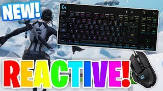 HOW TO ACTIVATE REACTIVE KEYBOARD + MOUSE RGB LIGHTING IN FORTNITE!