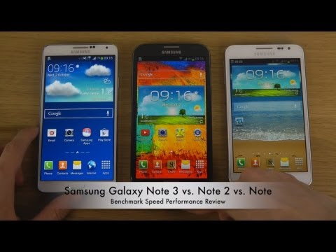 Samsung Galaxy Note 3 vs. Note 2 vs. Note - Benchmark Speed Performance Review