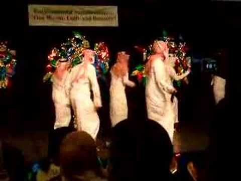 Saudi Students dance in wiu