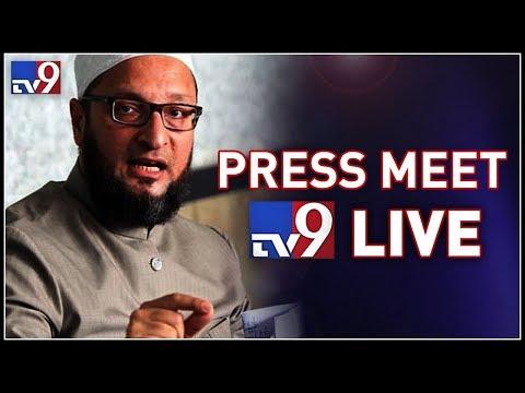 Asaduddin Owaisi Press Meet LIVE || MIM-TRS alliance  - TV9