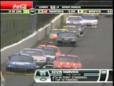 Kevin Harvick Messing with Kyle Bucsh Sprint Cup Pocono 500 2011.mpg