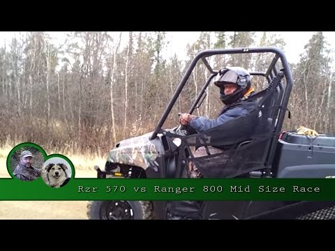Rzr 570 vs Ranger 800 Mid Size Race