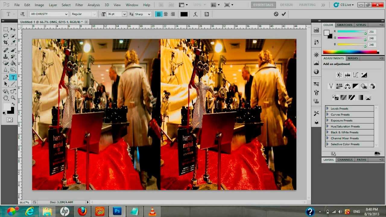 фотошоп как две фотографии соединить в одну