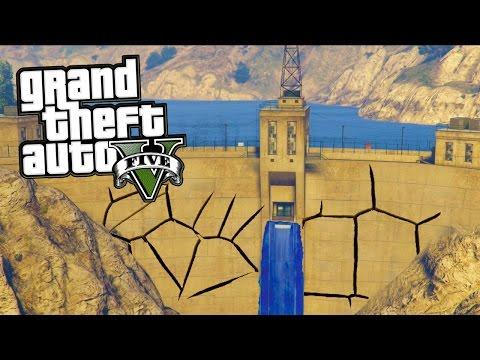 GTA 5 Secrets - Can You Break the Los Santos Dam? (GTA 5 Easter Egg)