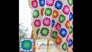 How to crochet multi colored afghan blanket free easy pattern tutorial for begginer