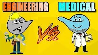 Engineering Vs Medical Students Life | Angry Prash