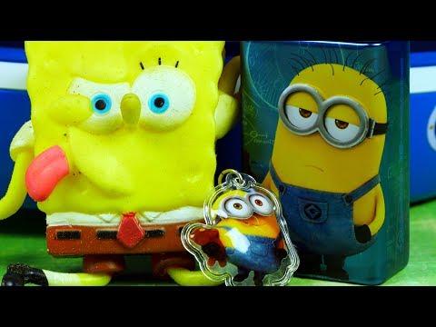 Spongebob & Minionki & Jajka Niespodzianki | Piracki skarb | Bajki dla dzieci i unboxing